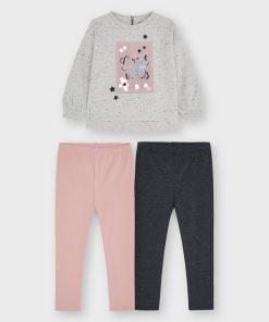 Conjunto leggings dos pantalones niña Mayoral
