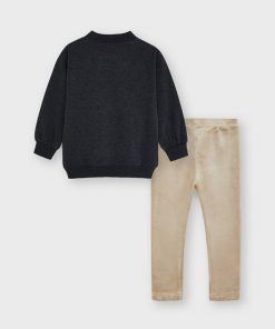 Conjunto leggings terciopelo niña Mayoral