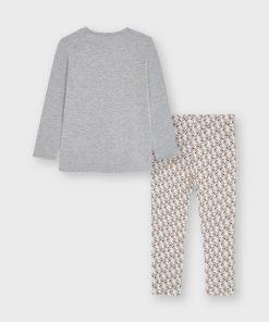 Conjunto leggings estampado niña Mayoral
