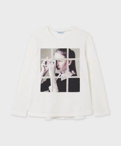 Camiseta fotografía junior niña Mayoral