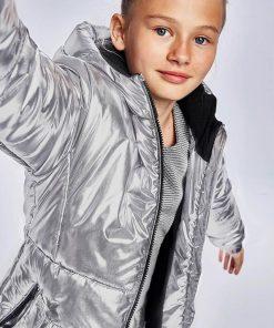 Abrigo metalizado chica Mayoral