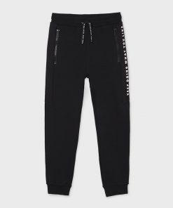 Pantalón felpa negro junior niño Mayoral
