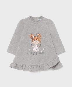 Vestido felpa muñeca bebe niña Mayoral