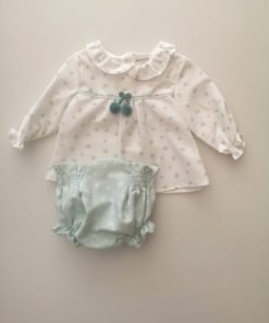 Conjunto blusa y braguita Musgo Micolino