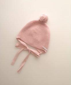 Gorro pompón pequeño rosa Pangasa