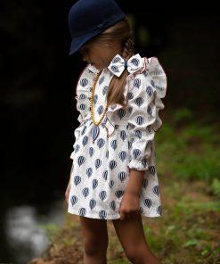 Vestido globos niña Kids chocolate