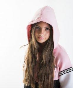 Chaqueta niña rosa-negra-blanca Guess
