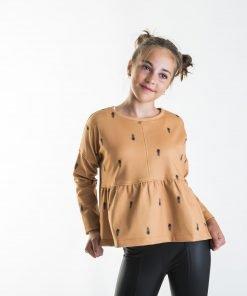 Sudadera plumas niñas Pilar Batanero