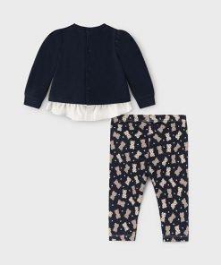 Conjunto leggings marino bebe niña Mayoral