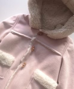 Abrigo capucha rosa Yoedu
